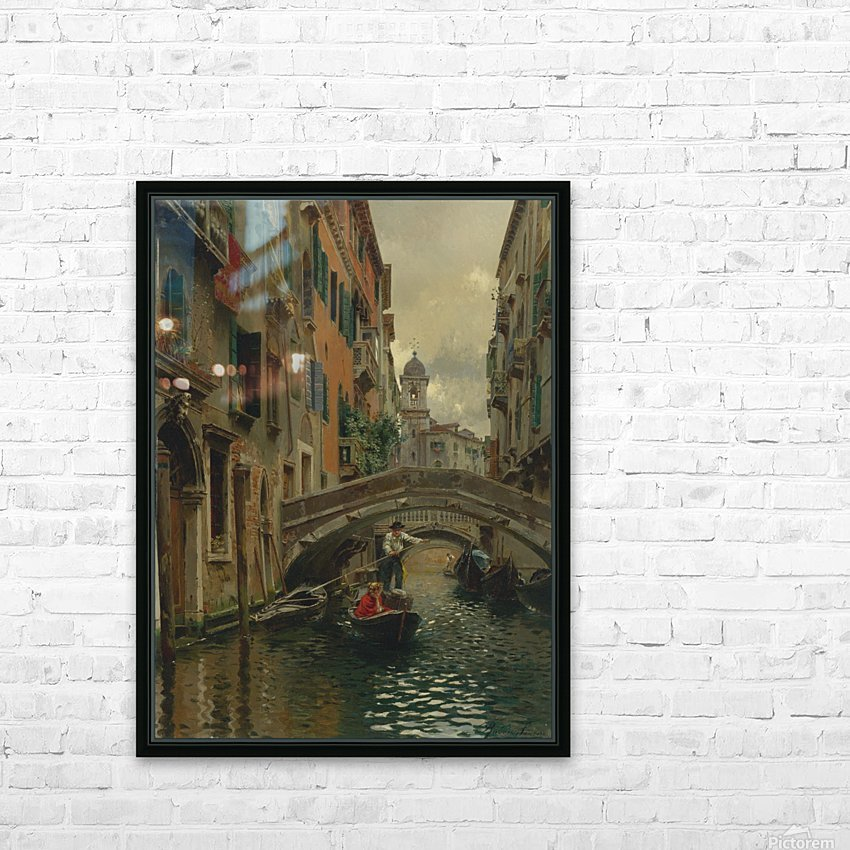 A quiet canal HD Sublimation Metal print with Decorating Float Frame (BOX)