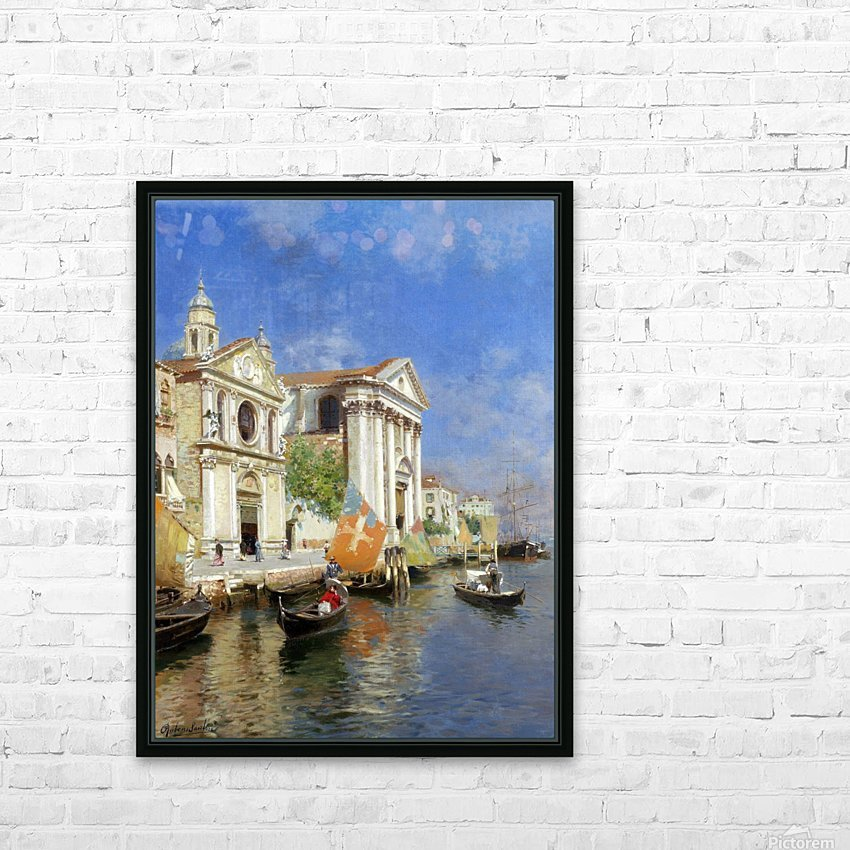 Riva degli Schiavoni HD Sublimation Metal print with Decorating Float Frame (BOX)