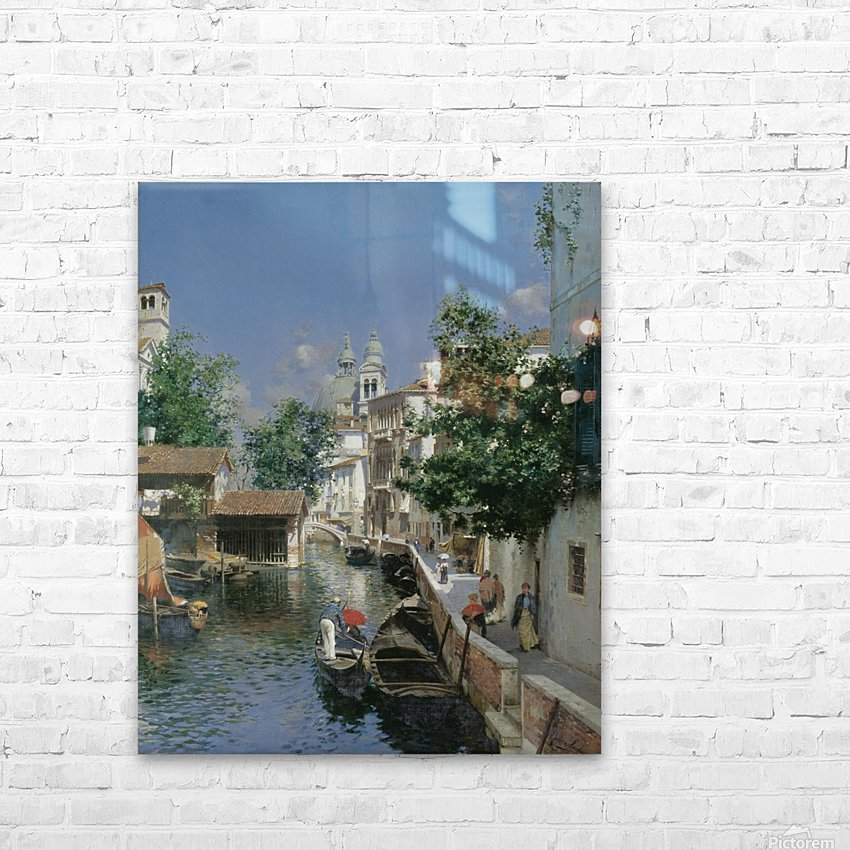 View from Giudecca towards the Church of Santa Maria della Salute HD Sublimation Metal print with Decorating Float Frame (BOX)