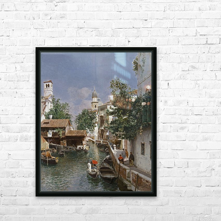 Canal de Veneza HD Sublimation Metal print with Decorating Float Frame (BOX)