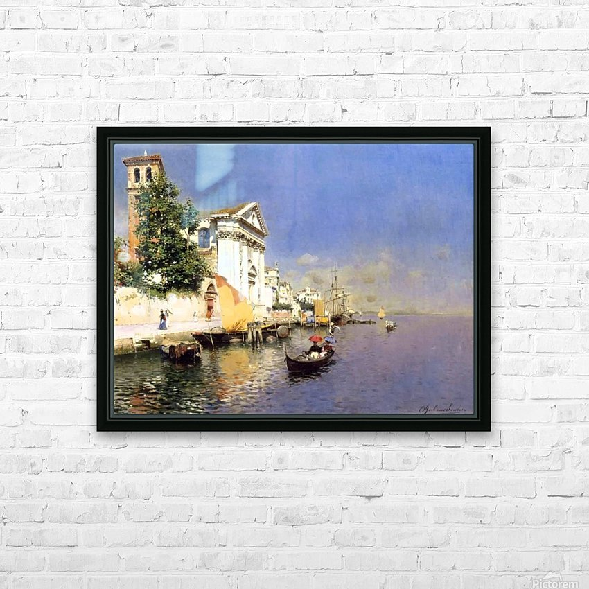 Entering a Venetian Canal HD Sublimation Metal print with Decorating Float Frame (BOX)