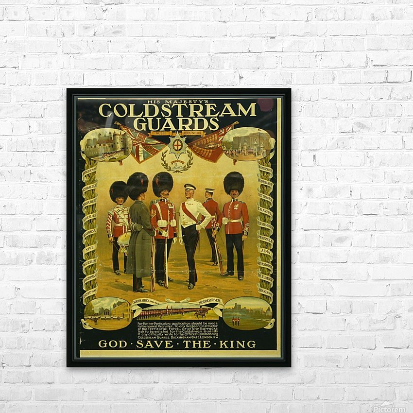 Coldstream Guards HD Sublimation Metal print with Decorating Float Frame (BOX)