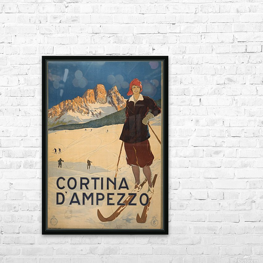 Cortina d Amprezzo HD Sublimation Metal print with Decorating Float Frame (BOX)