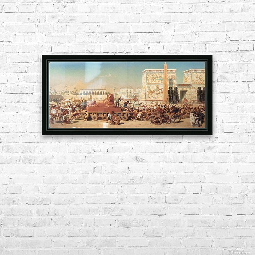 Israel in Egypt HD Sublimation Metal print with Decorating Float Frame (BOX)