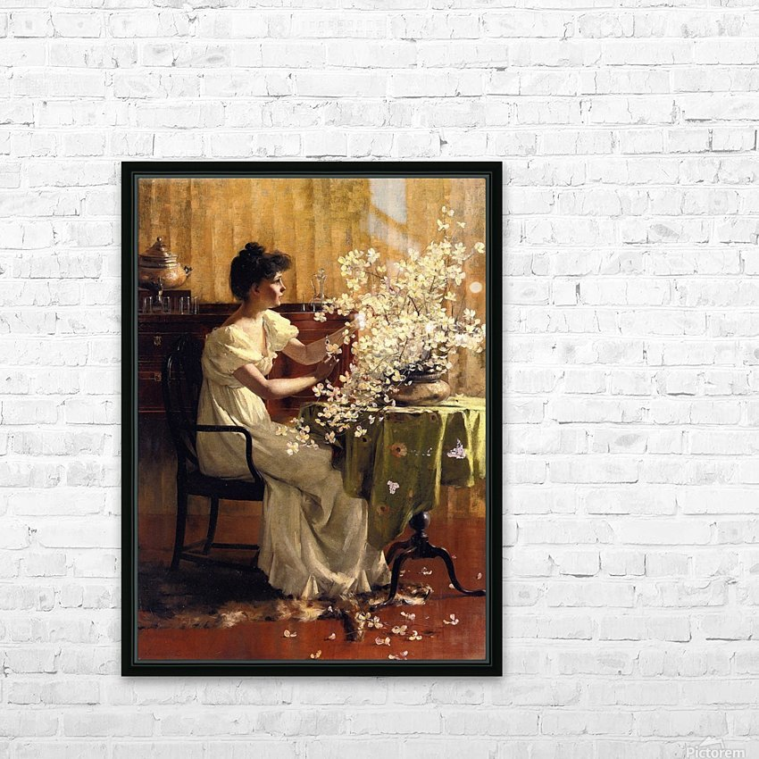 Wild blossoms HD Sublimation Metal print with Decorating Float Frame (BOX)