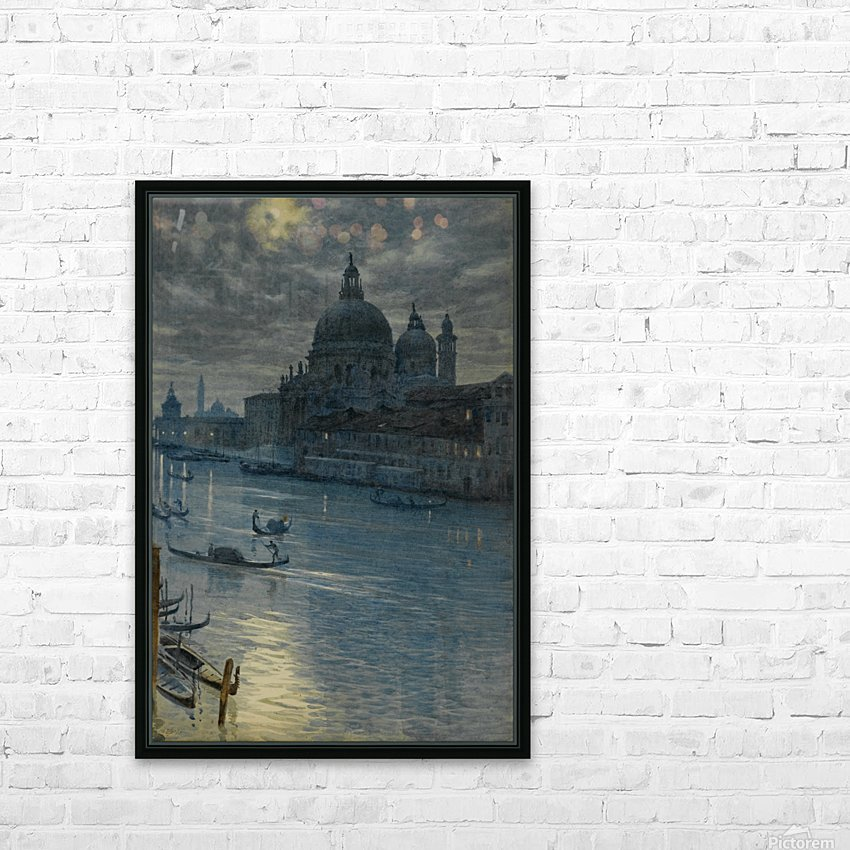 Townscape HD Sublimation Metal print with Decorating Float Frame (BOX)