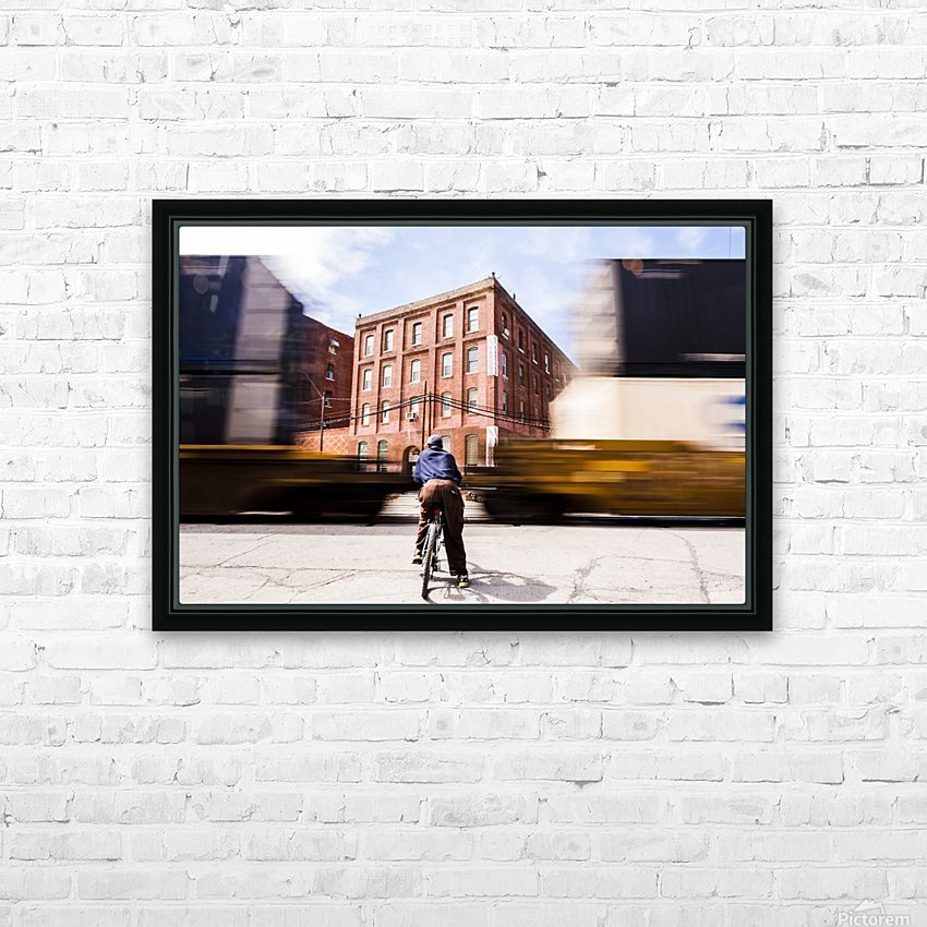 Waiting on the Train HD Sublimation Metal print with Decorating Float Frame (BOX)