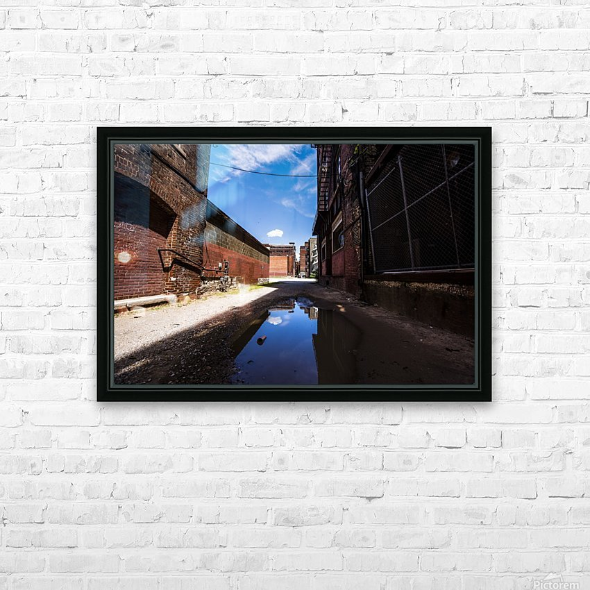 Alley Reflections HD Sublimation Metal print with Decorating Float Frame (BOX)