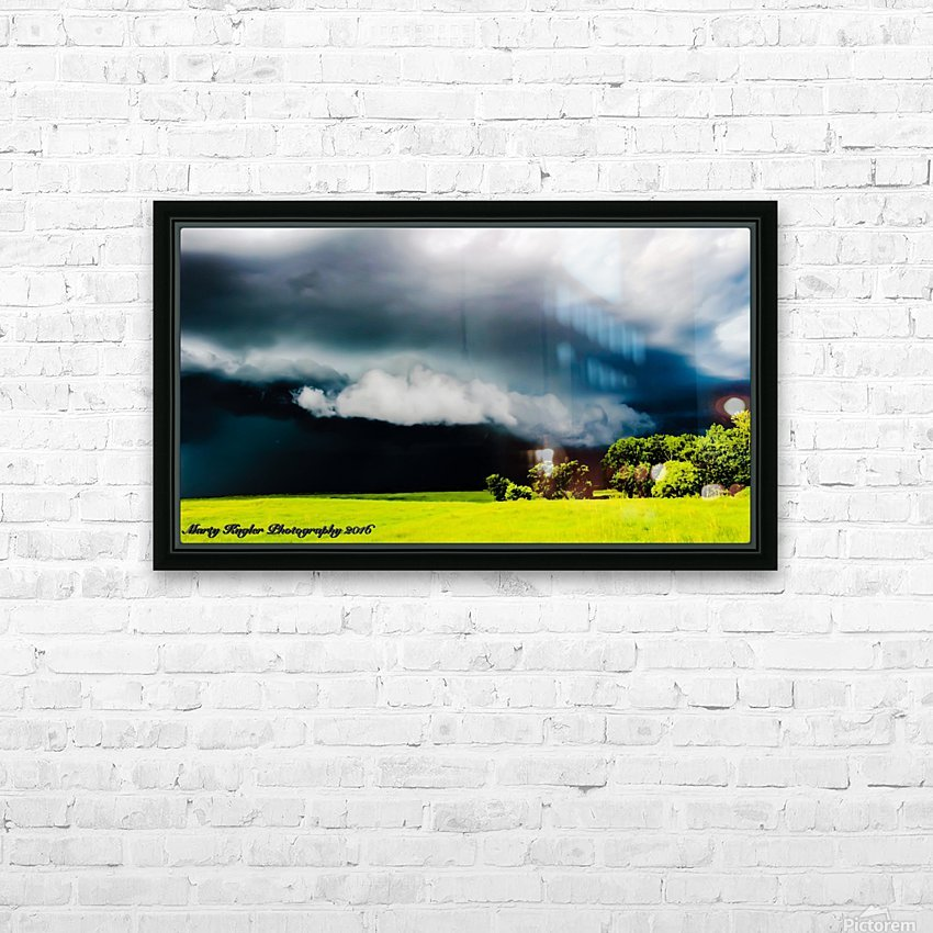 KANSAS STORM ROLLING IN! HD Sublimation Metal print with Decorating Float Frame (BOX)