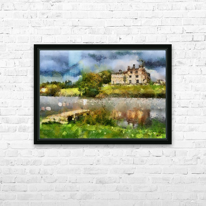 RIPLEY CASTLE 2 HD Sublimation Metal print with Decorating Float Frame (BOX)