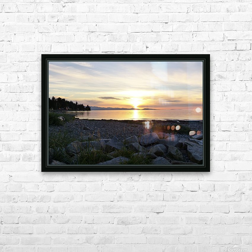 Walking in Light HD Sublimation Metal print with Decorating Float Frame (BOX)