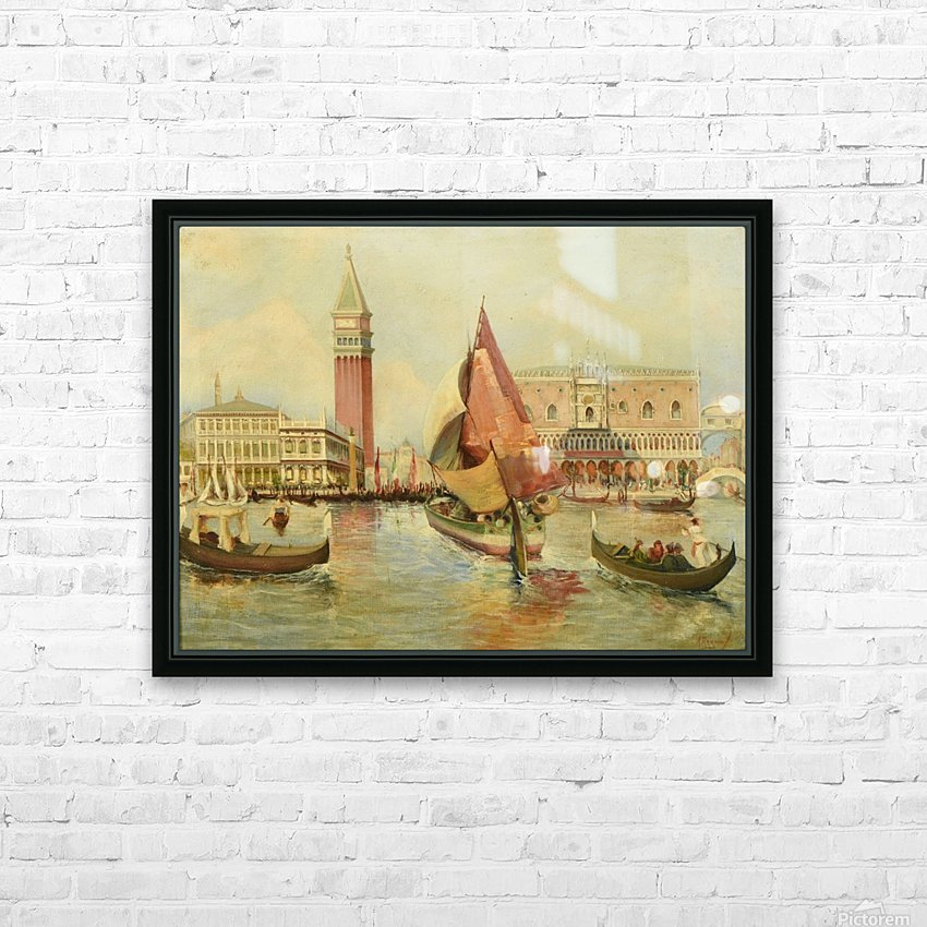 Venice city view HD Sublimation Metal print with Decorating Float Frame (BOX)