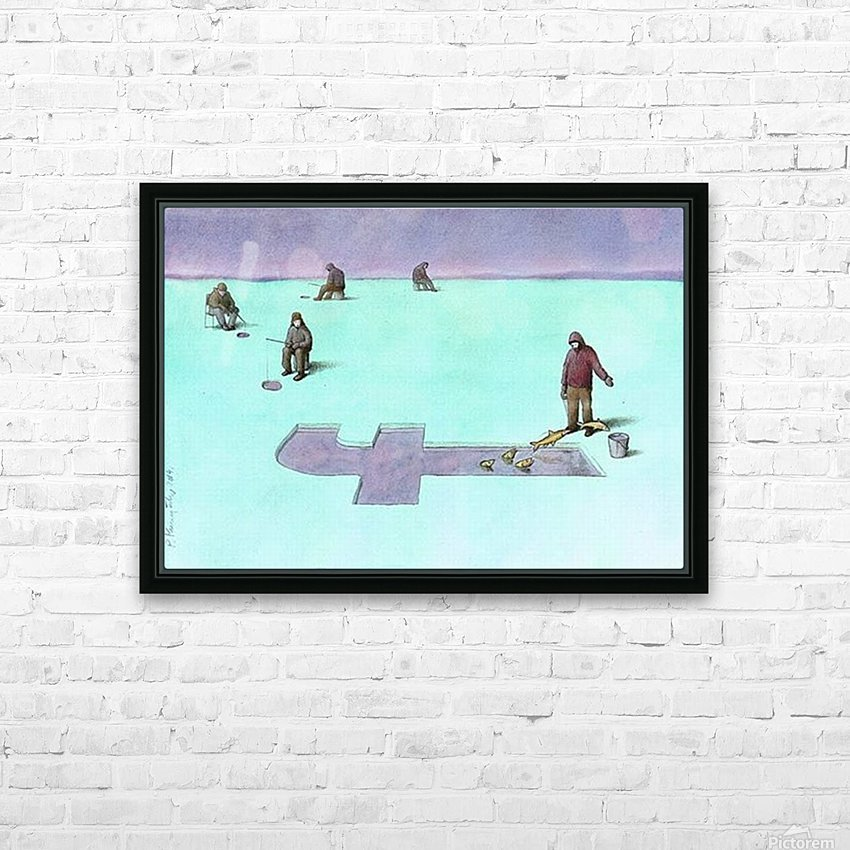 Fishing HD Sublimation Metal print with Decorating Float Frame (BOX)