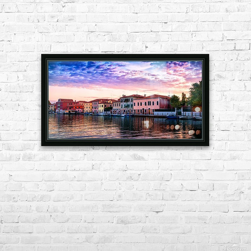 Murano Morning HD Sublimation Metal print with Decorating Float Frame (BOX)