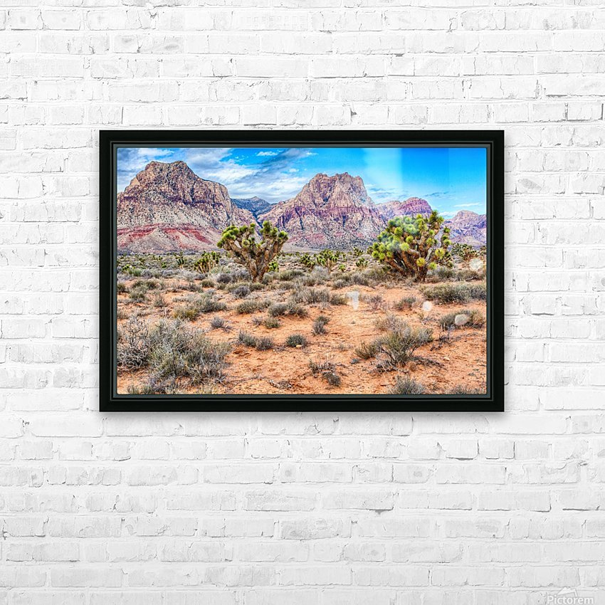 JoshuaTree HD Sublimation Metal print with Decorating Float Frame (BOX)