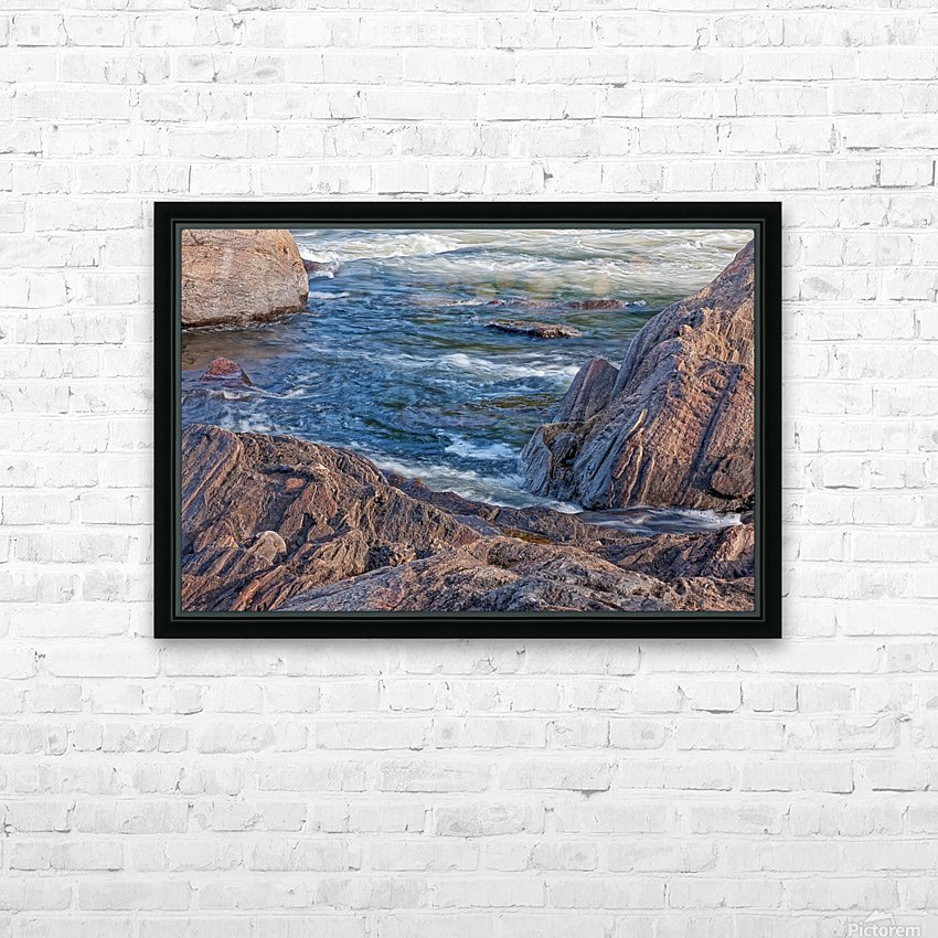 Rocky River Edge HD Sublimation Metal print with Decorating Float Frame (BOX)