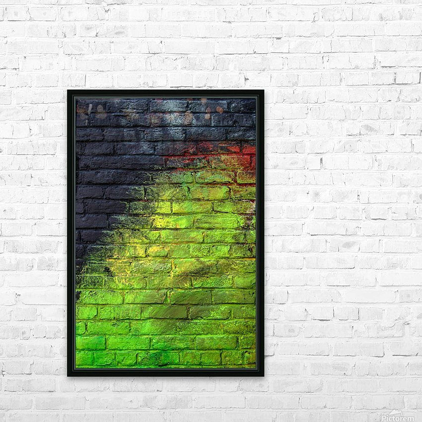 The Green Wall HD Sublimation Metal print with Decorating Float Frame (BOX)