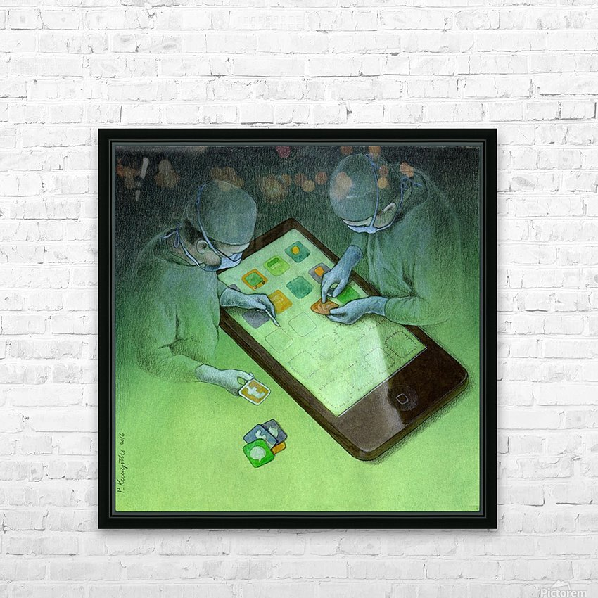 surgery HD Sublimation Metal print with Decorating Float Frame (BOX)