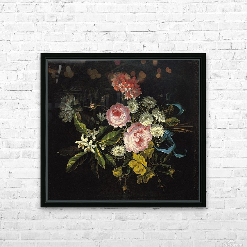 Bouquet of Chamomile, French roses and other flowers HD Sublimation Metal print with Decorating Float Frame (BOX)