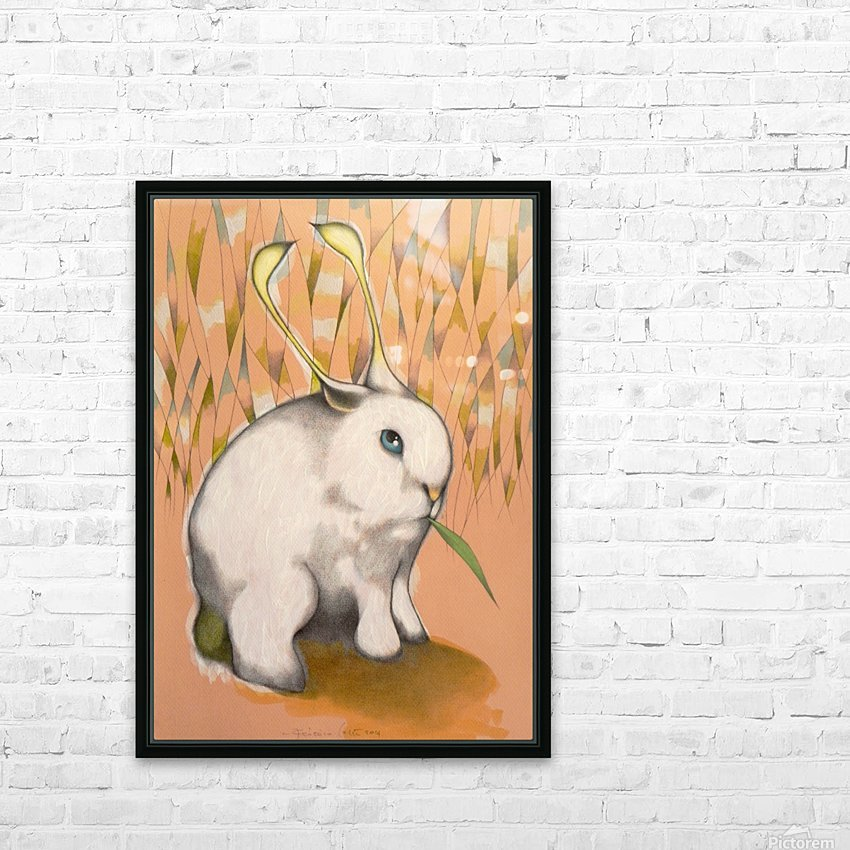 Bunny Alien HD Sublimation Metal print with Decorating Float Frame (BOX)