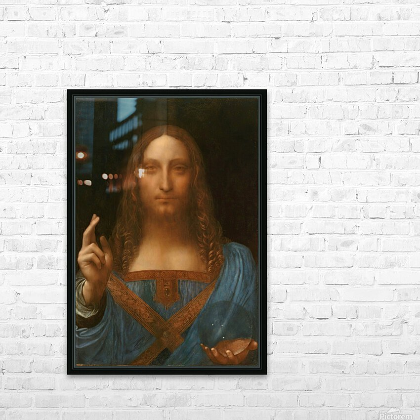 Salvator Mundi HD Sublimation Metal print with Decorating Float Frame (BOX)