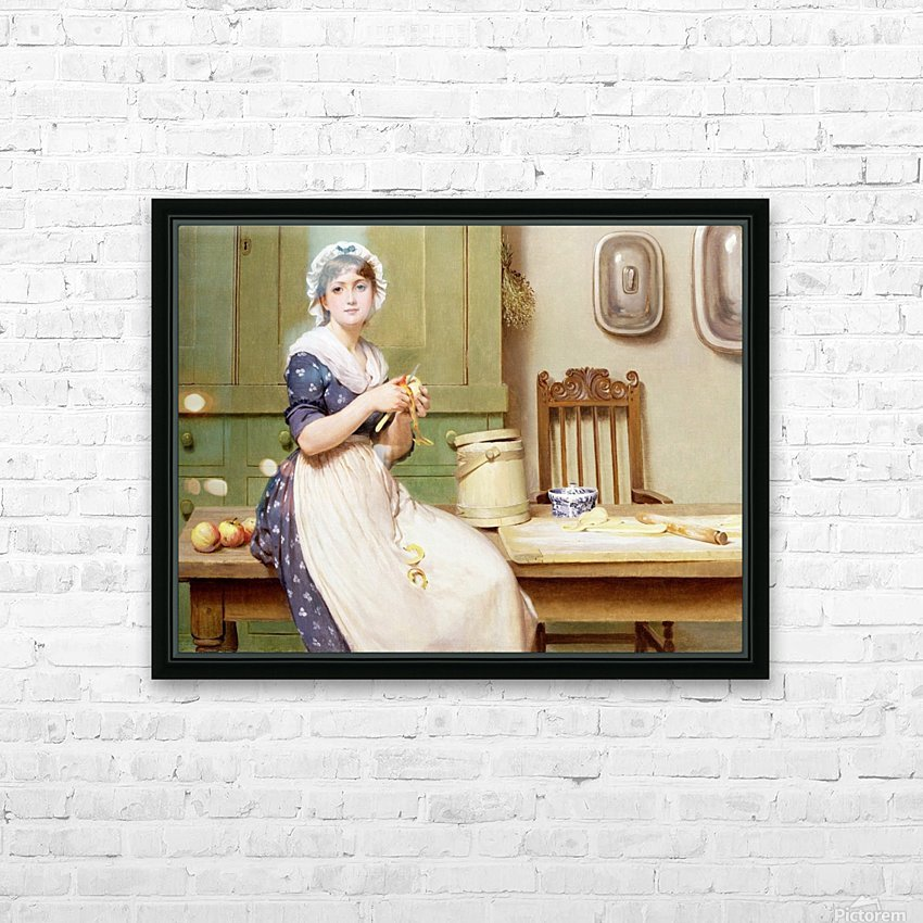 Apple Dumplings HD Sublimation Metal print with Decorating Float Frame (BOX)