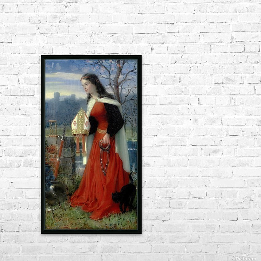 Allegorical Maiden in red dress HD Sublimation Metal print with Decorating Float Frame (BOX)