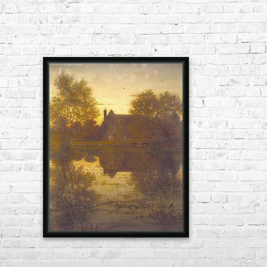 The deserted mill HD Sublimation Metal print with Decorating Float Frame (BOX)