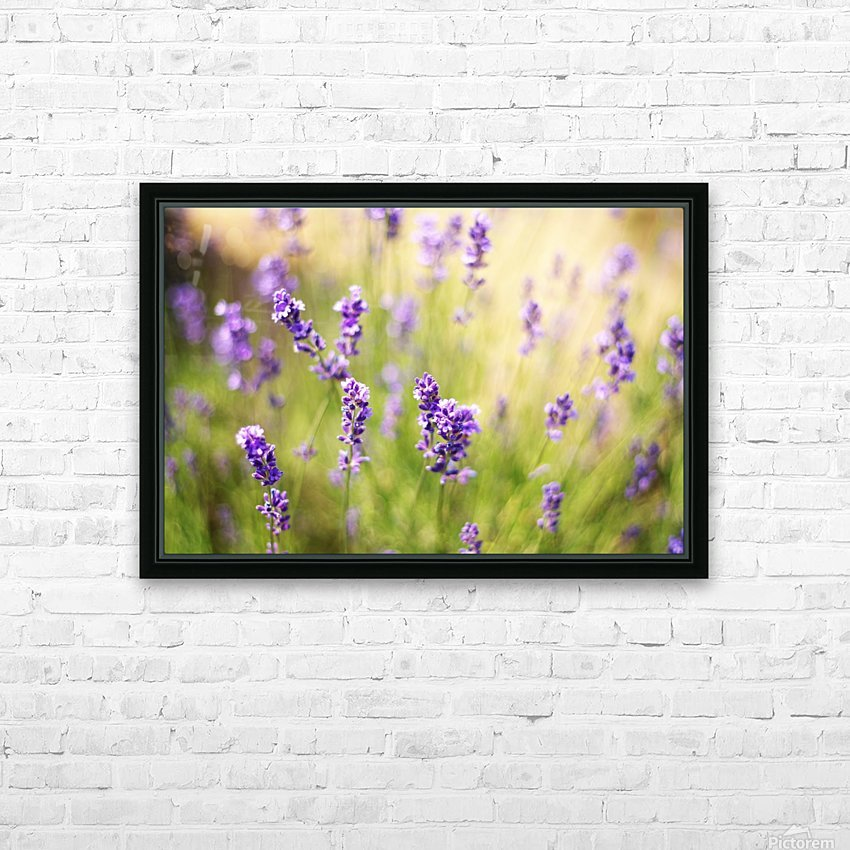 Lavender flowers HD Sublimation Metal print with Decorating Float Frame (BOX)