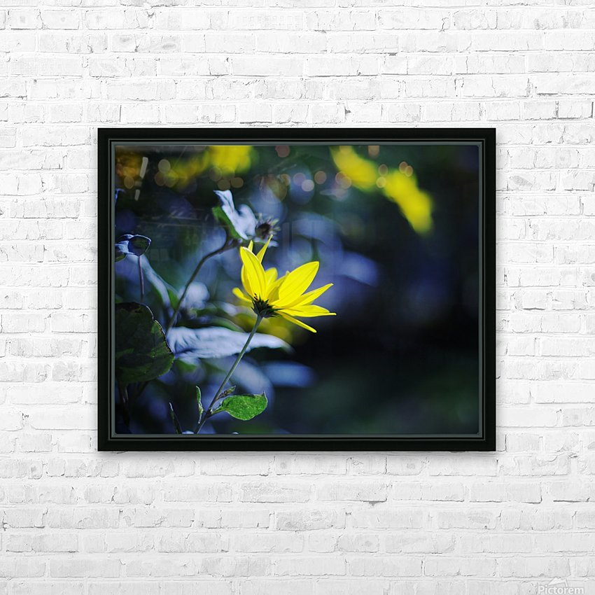Yellow flowers HD Sublimation Metal print with Decorating Float Frame (BOX)