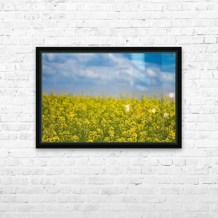 Summer flowers HD Sublimation Metal print with Decorating Float Frame (BOX)