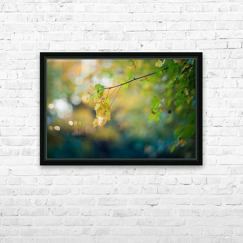 Beautiful autumn background HD Sublimation Metal print with Decorating Float Frame (BOX)
