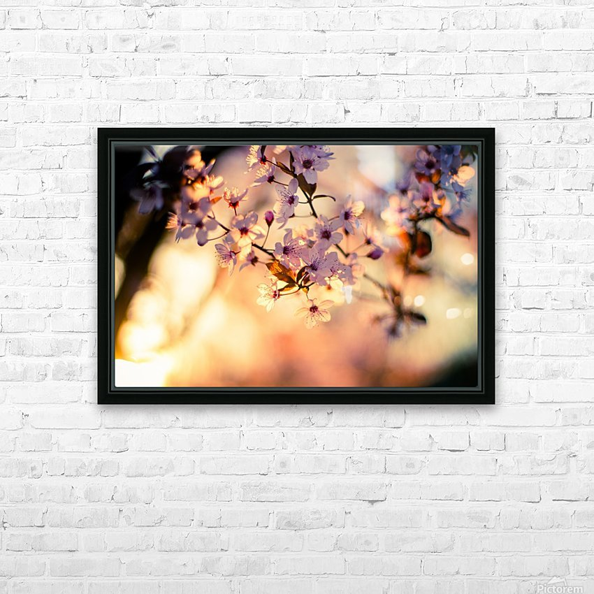 Beautiful Spring cherry flowers HD Sublimation Metal print with Decorating Float Frame (BOX)