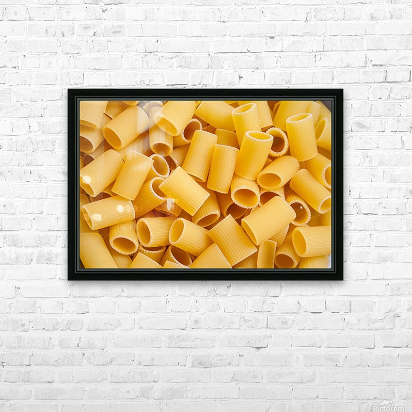 Dry pasta background  HD Sublimation Metal print with Decorating Float Frame (BOX)