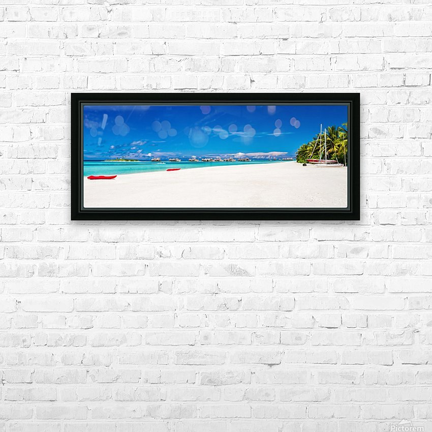 Amazing beach in Maldives, summer travel HD Sublimation Metal print with Decorating Float Frame (BOX)