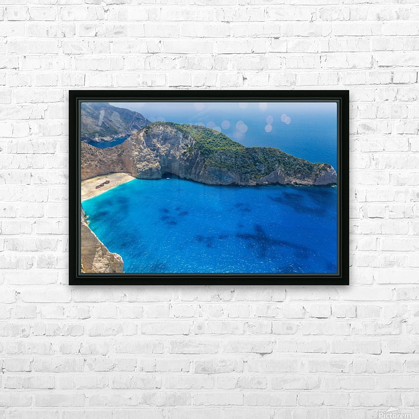 Navagio beach with shipwreck on Zakynthos island in Greece HD Sublimation Metal print with Decorating Float Frame (BOX)