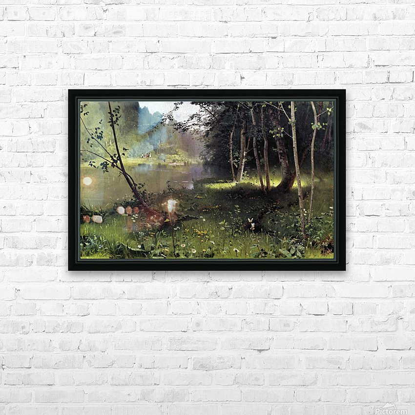 Forest river HD Sublimation Metal print with Decorating Float Frame (BOX)