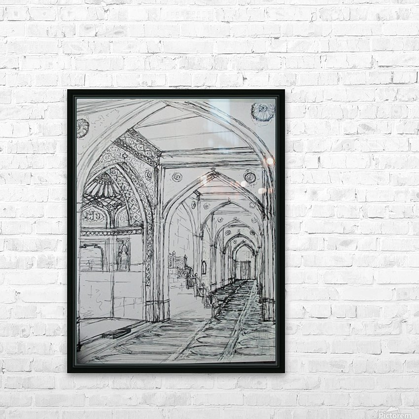 shajaani mosque HD Sublimation Metal print with Decorating Float Frame (BOX)