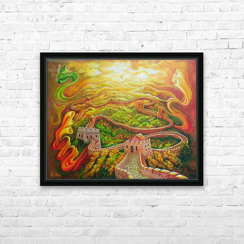 Dragon's eye view HD Sublimation Metal print with Decorating Float Frame (BOX)