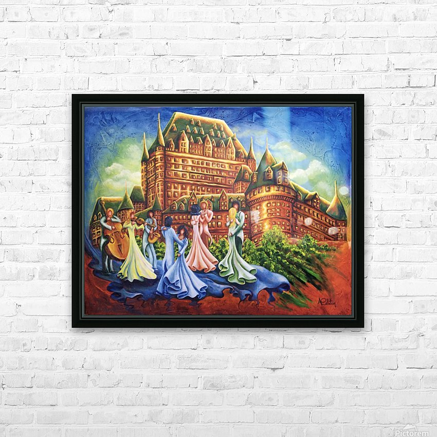 Jour de bal au Château HD Sublimation Metal print with Decorating Float Frame (BOX)
