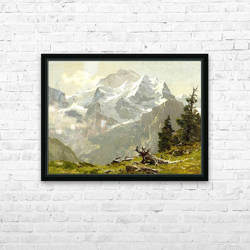Snowcaps HD Sublimation Metal print with Decorating Float Frame (BOX)