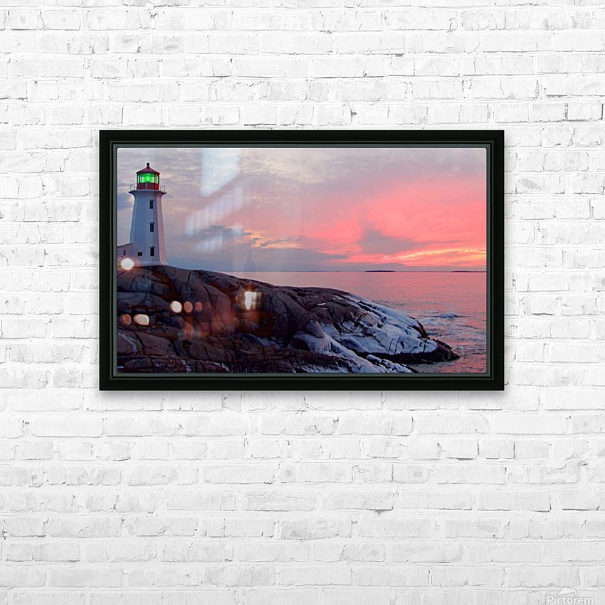 Peggys Cove Winter Sunset HD Sublimation Metal print with Decorating Float Frame (BOX)