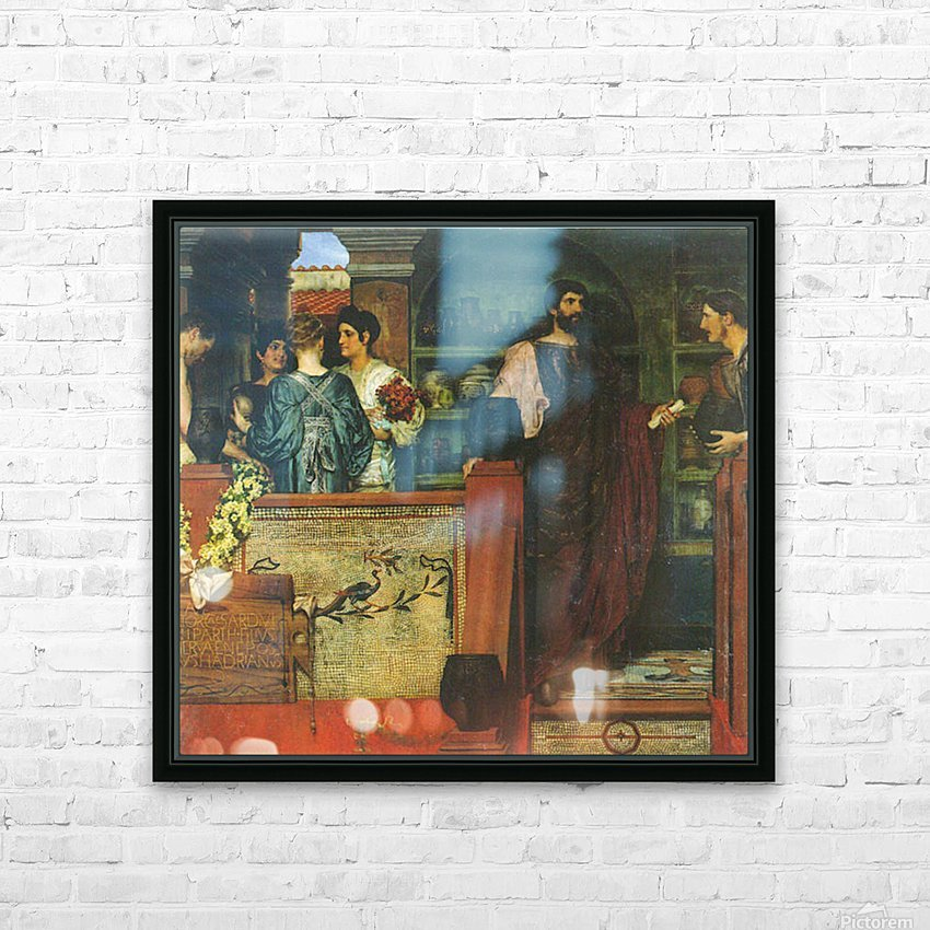 Hadrian visiting a Roman-British pottery by Alma-Tadema HD Sublimation Metal print with Decorating Float Frame (BOX)
