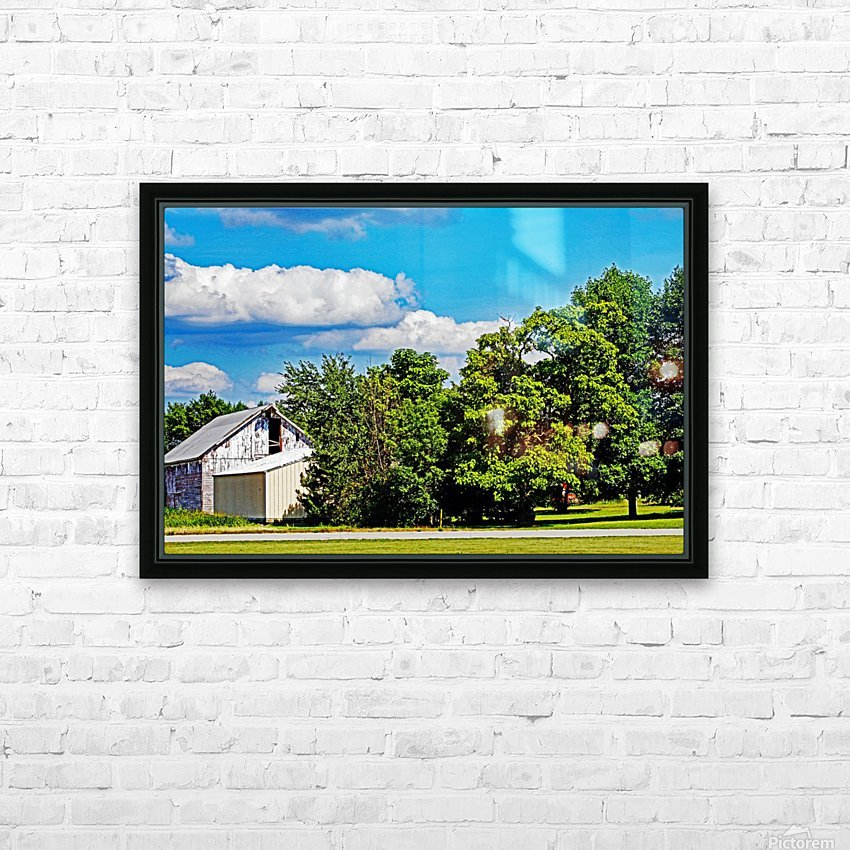 Storm Clouds Over the Barn 1 HD Sublimation Metal print with Decorating Float Frame (BOX)