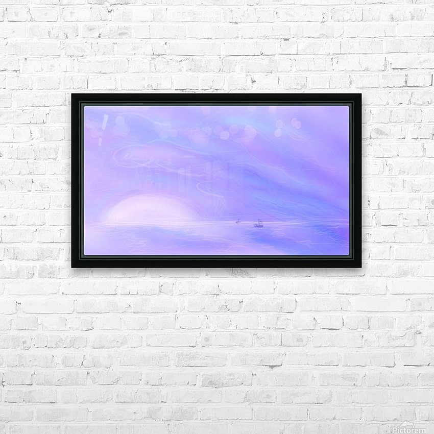 A Maui Twilight Setting HD Sublimation Metal print with Decorating Float Frame (BOX)