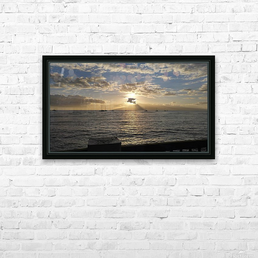 Lanai' Rise HD Sublimation Metal print with Decorating Float Frame (BOX)