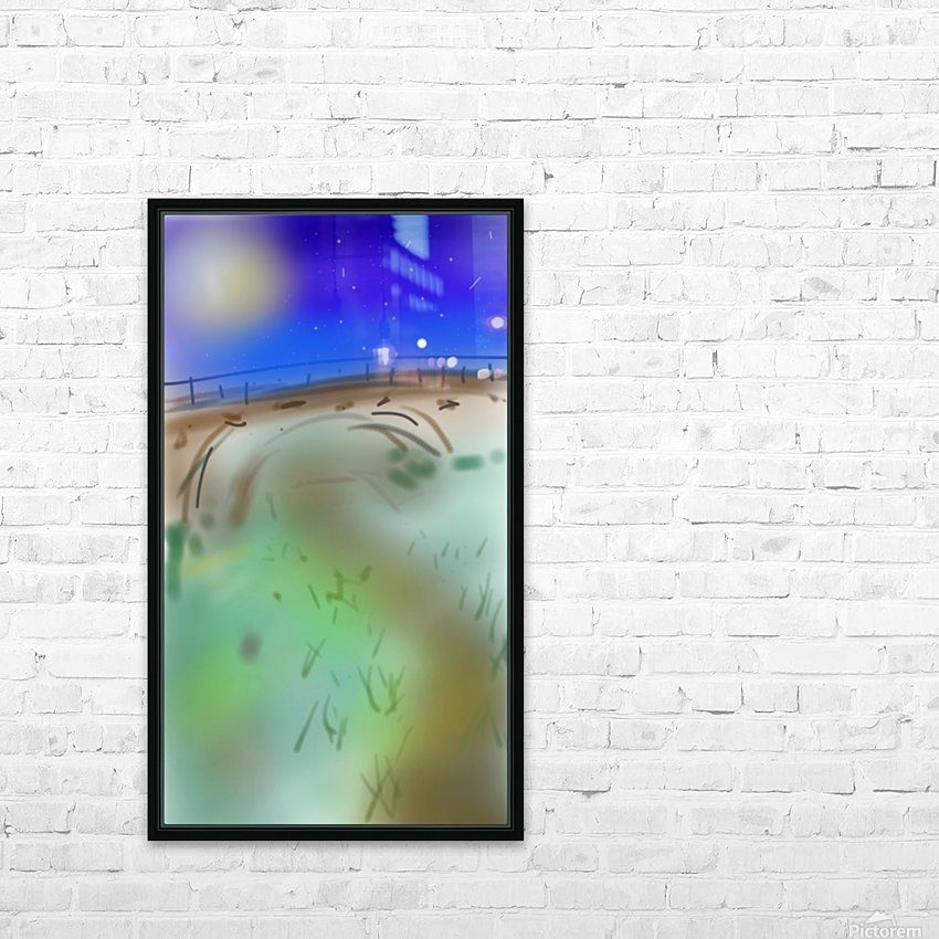 Under a Bridge HD Sublimation Metal print with Decorating Float Frame (BOX)