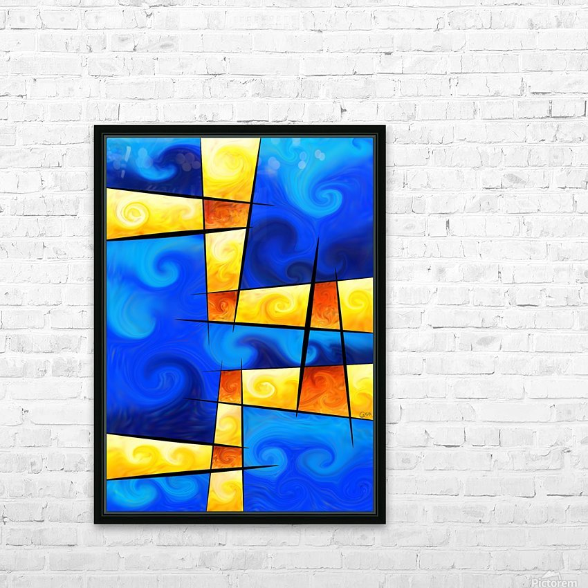 Fergussos V1 - digital abstract HD Sublimation Metal print with Decorating Float Frame (BOX)