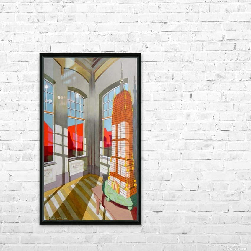abandoned room with the empire state building HD Sublimation Metal print with Decorating Float Frame (BOX)