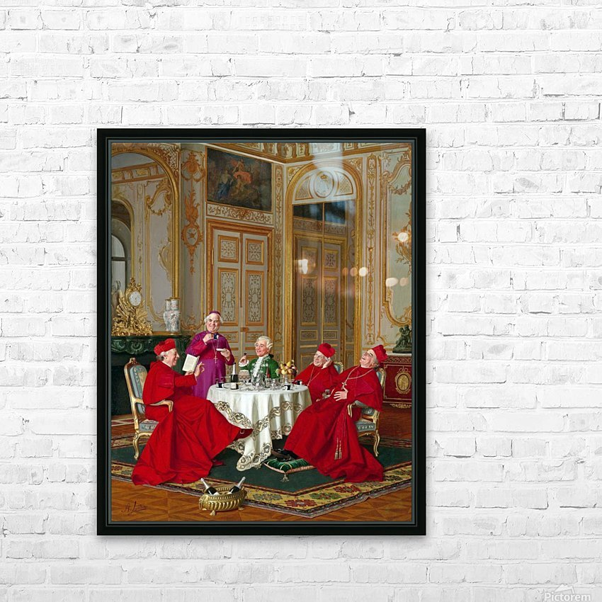 A couple of cardinals in the living room HD Sublimation Metal print with Decorating Float Frame (BOX)